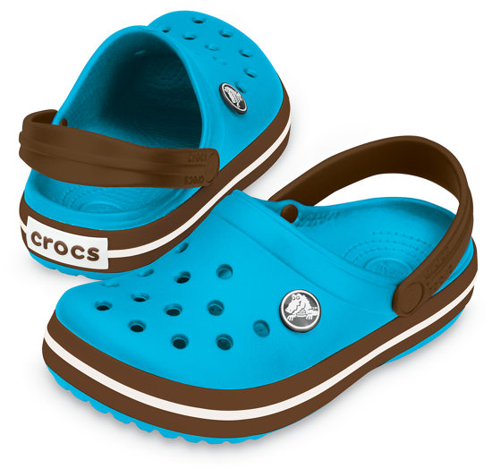 BUTY KLAPKI CROCS CROCBAND KIDS 10998 Electric Blue/Brown
