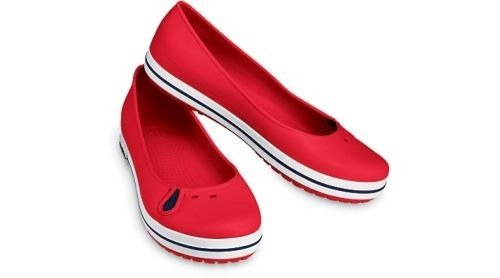 CROCS SHOES CROCBAND FLAT 11072 RED