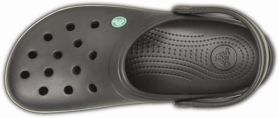 MEN'S FLIP FLOPS CROCS CROCBAND GRAPHITE/GR GREEN 11016