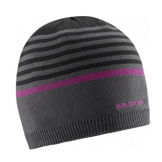 WINTER HAT SALOMON STRIPE REVERSIBLE 375589 10