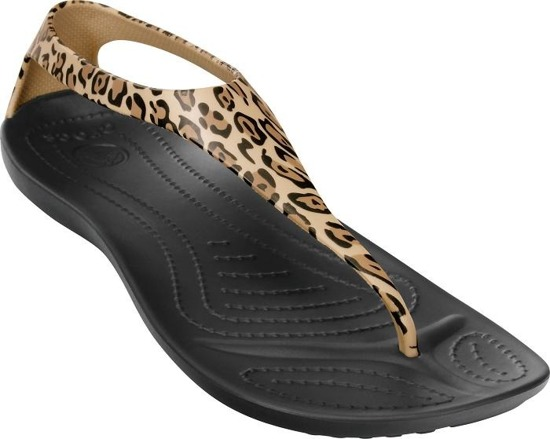 WOMEN'S SANDALS CROCS SEXI WILD FLIP BLACK/GOLD 15539
