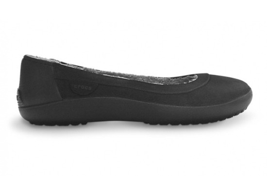 WOMEN'S SHOES CROCS BALLERINA BERRYESSA SUEDE FLAT 12347 BLACK