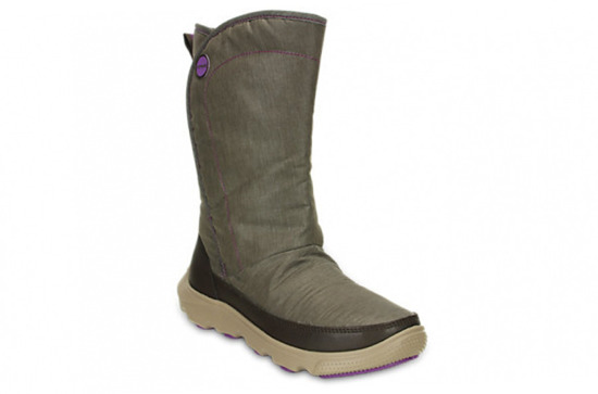 WOMEN'S SHOES CROCS Duet Busy Day Boot 15763 ESPRESSO