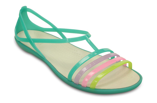 WOMEN'S SHOES CROCS ISABELLA SANDAL 202465 GREEN