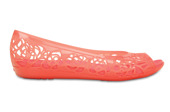 WOMEN'S SHOES CROCS ISABELLA JELLY FLAT 203285 CORAL