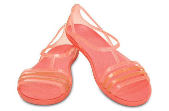 DAMEN SCHUHE CROCS ISABELLA SANDAL 202465 ORANGE