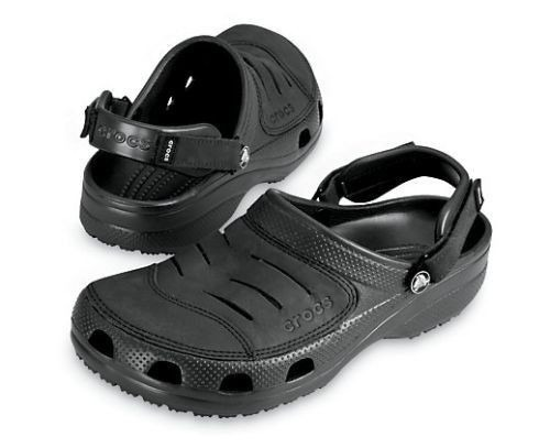 MEN'S SHOES CROCS FLIP-FLOPS YUKON 10123 BLACK