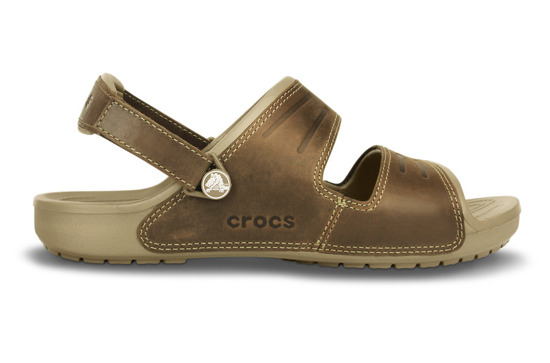 MEN'S SHOES CROCS SANDALS YUKON TWO-STRAP KHAKI 14325