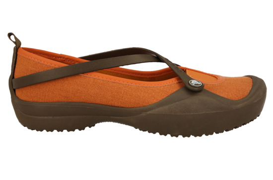 WOMEN'S SHOES  CROCS 10098 CHOCO/SIE CANVAS